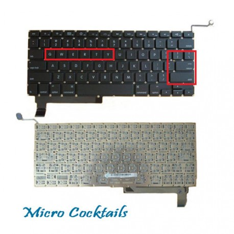 "Clavier (Américain) QWERTY (Macbook Pro Unibody 15"" A1286)"