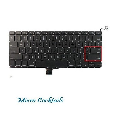 "Clavier (Américain) QWERTY (Macbook Pro Unibody 13"" A1278)"