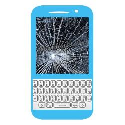 Réparation écran cassé (vitre + lcd) Blackberry Q5