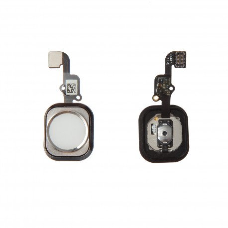 Nappe bouton HOME avec membrane iPhone 6 / 6 Plus Argent