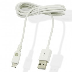 OMUVIT SPRING CABLE DROIT USB MICRO USB 1A CHARGE & SYNC 1M BLANC