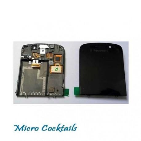ECRAN LCD + VITRE TACTILE pour BLACKBERRY Q10 sur chassis vibreur + ecouteur