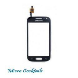 Vitre Tactile pour Samsung Galaxy ACE 2 i8160 noire avec autocollant préinstallé