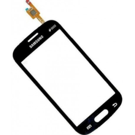Vitre Tactile pour Samsung Galaxy trend lite S7390 noir avec autocollant adhésif