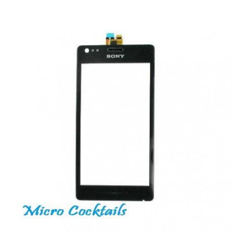 Vitre Tactile pour Sony Xpéria M C1905 noire avec joint de séparation lcd vitre