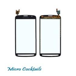 Vitre Tactile pour Samsung Galaxy S4 Active i9295 noire avec autocollant adhésif
