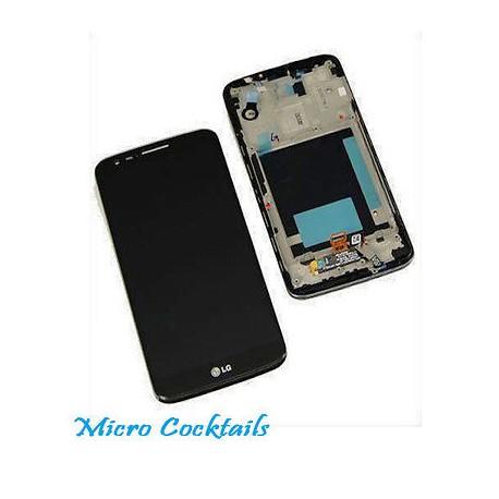 Vitre Tactile Ecran LCD avec Chassis pour LG G2 D802 bloc complet noir