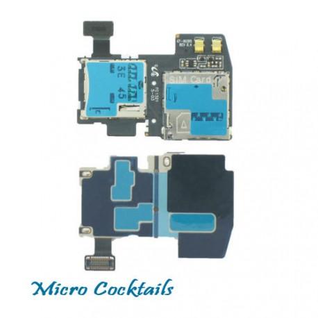 Nappe lecteur carte sim micro sd pour Samsung Galaxy S4 active i9295