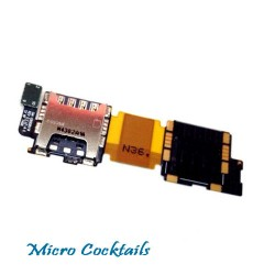 Nappe Lecteur Sim Micro SD Galaxy S5 SM G900F Samsung