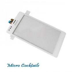Vitre Tactile Sony Xpéria M C1905 blanche avec joint de séparation lcd vitre
