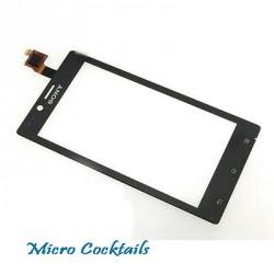 Vitre Tactile noire pour Sony Xpéria J ST26 ST26i