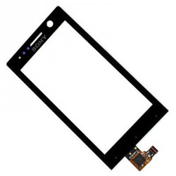 Vitre Tactile Noire pour Sony Xpéria U st25i st25
