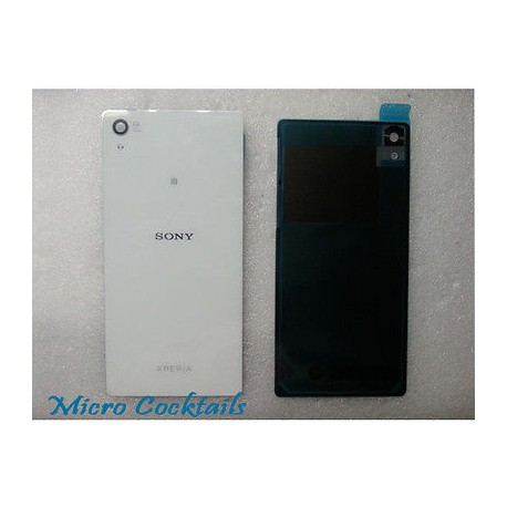 Vitre arrière Sony Xperia Z2 D6503 Blanche avec autocollant