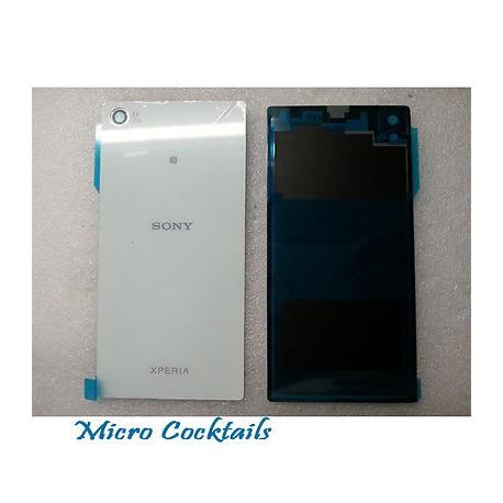 Vitre arrière blanche Sony Xperia Z1 L39h C6903 avec autocollant