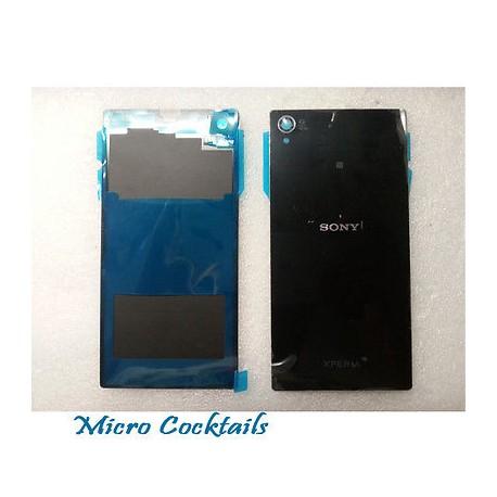 Vitre arrière Noire Sony Xperia Z1 L39h C6903 avec autocollant