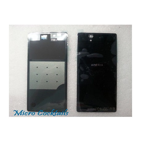 Vitre arrière Noire Sony Xperia Z L36H avec autocollant