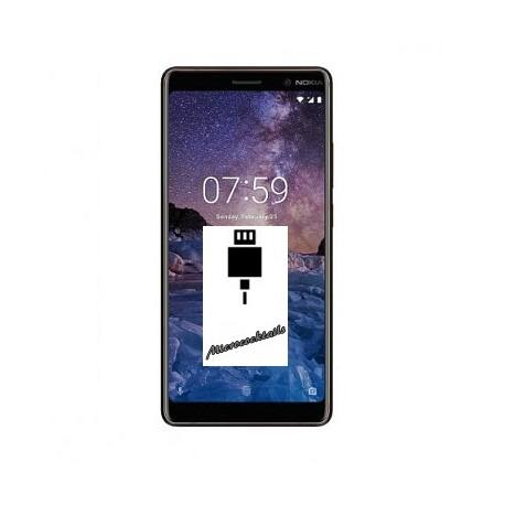 Réparation Connecteur charge micro usb Nokia 7 Plus