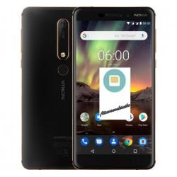 Réparation lecteur carte sim et micro sd Nokia 6.1