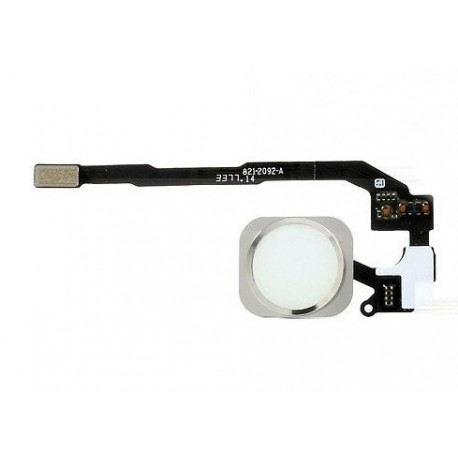 Nappe bouton assemble iPhone 5S Blanc