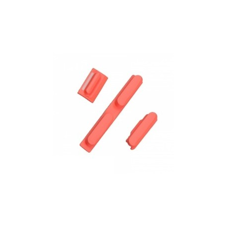 Kit Boutons Power Volume et Vibreur iPhone 5C Rouge