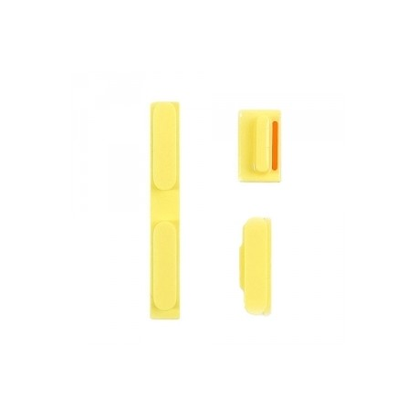 Kit Boutons Power Volume et Vibreur iPhone 5C Jaune