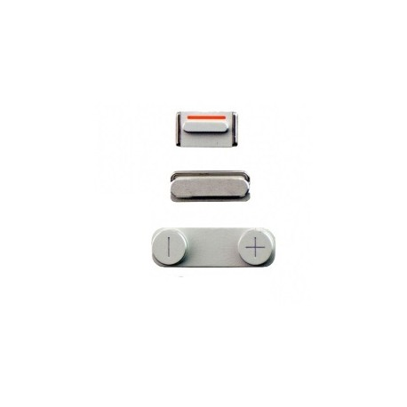 Kit Boutons Power Volume et Vibreur iPhone 5S Blanc
