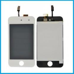 Ecran Complet Vitre tactile + LCD iPod Touch 4 Blanc avec autocollant