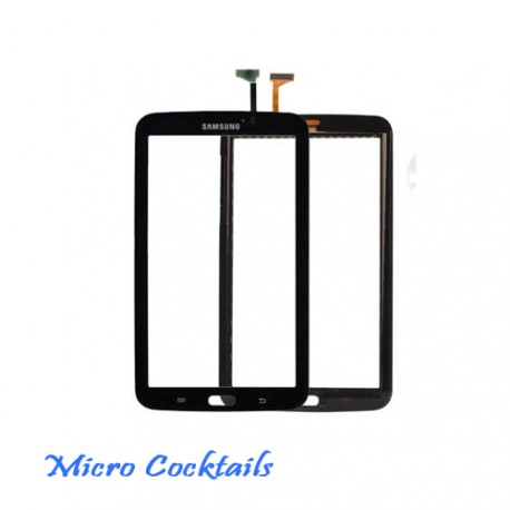 """Vitre Tactile noire Samsung Galaxy Tab 3 7"""" WiFi T210 avec autocollant"""