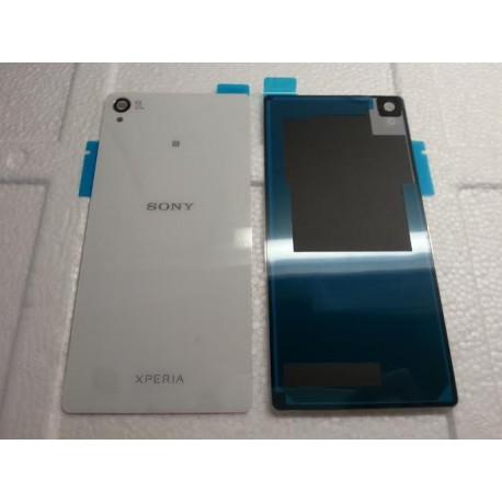 Vitre arrière blanche Sony Xperia Z3 blanc avec autocollant D6603 D6643 L55T L55U