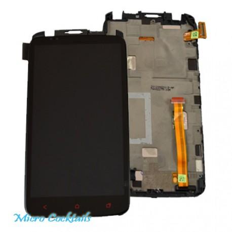 Ecran LCD Vitre tactile avec Chassis HTC One X+ Plus